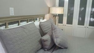 bedroom details at ravinia vaction rental apartment - choose to be happy
