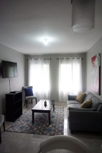 living room space in vacation rental - choose to be happy