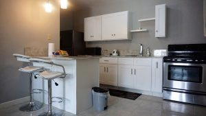modern kitchen in vacation rental - choose to be happy