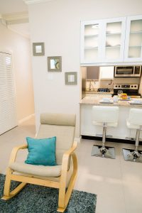 Vacation Rental Living Space View - Choose To Be Happy