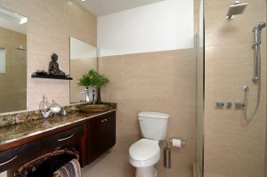 bathroom in vacation rental apartment - choose to be happy