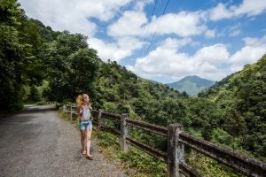 Girl Hiking in Red Hills Jamaica - Choose To Be Happy