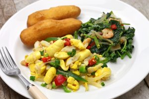 Jamaican Ackee and Saltfish Dinner Entre - Choose To Be Happy