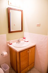 bathroom at the westbury rental apartment - choose to be happy