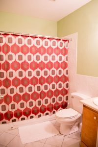 bathroom at corporate rate rental lodging - choose to be happy