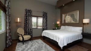 vacation rental bedroom - choose to be happy