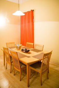 dining area in the westbury vacation rental - choose to be happy