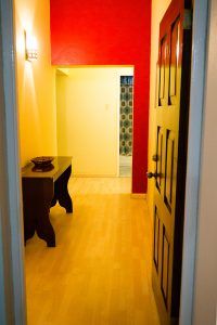 entryway into the westbury vacation rental - choose to be happy