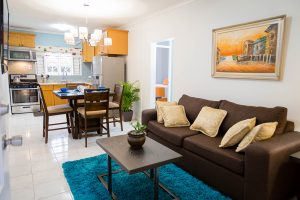 Vacation Rental living and dining space - Choose To Be Happy